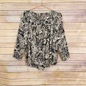 Parker Tiger Animal Print Long Sleeve Wrap Blouse